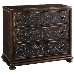 A.R.T. Furniture Inc Whiskey Oak Leather Hall Chest