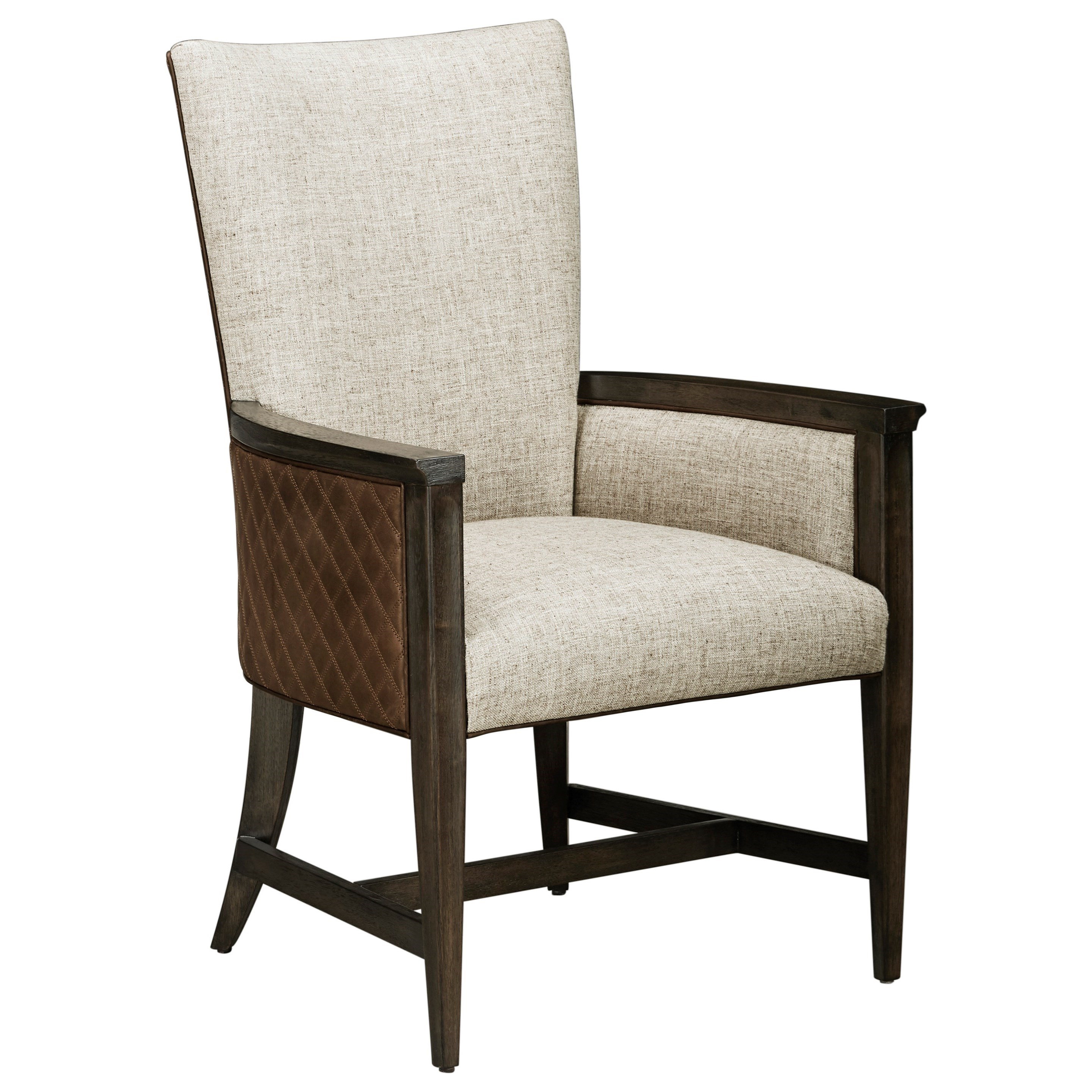 WoodWright Racine Upholstered Arm Chair by A.R.T. Furniture Inc at Darvin Furniture