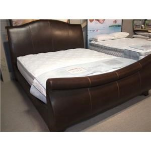 Upholstered King Sleigh Bed