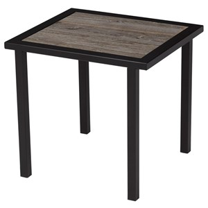 Rectangular End Table with Rustic Reclaimed Barnboard Top