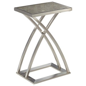 Rectangular Drink Table with Stone Top