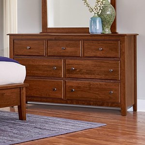 Solid Wood Loft Triple Dresser - 7 Drawers