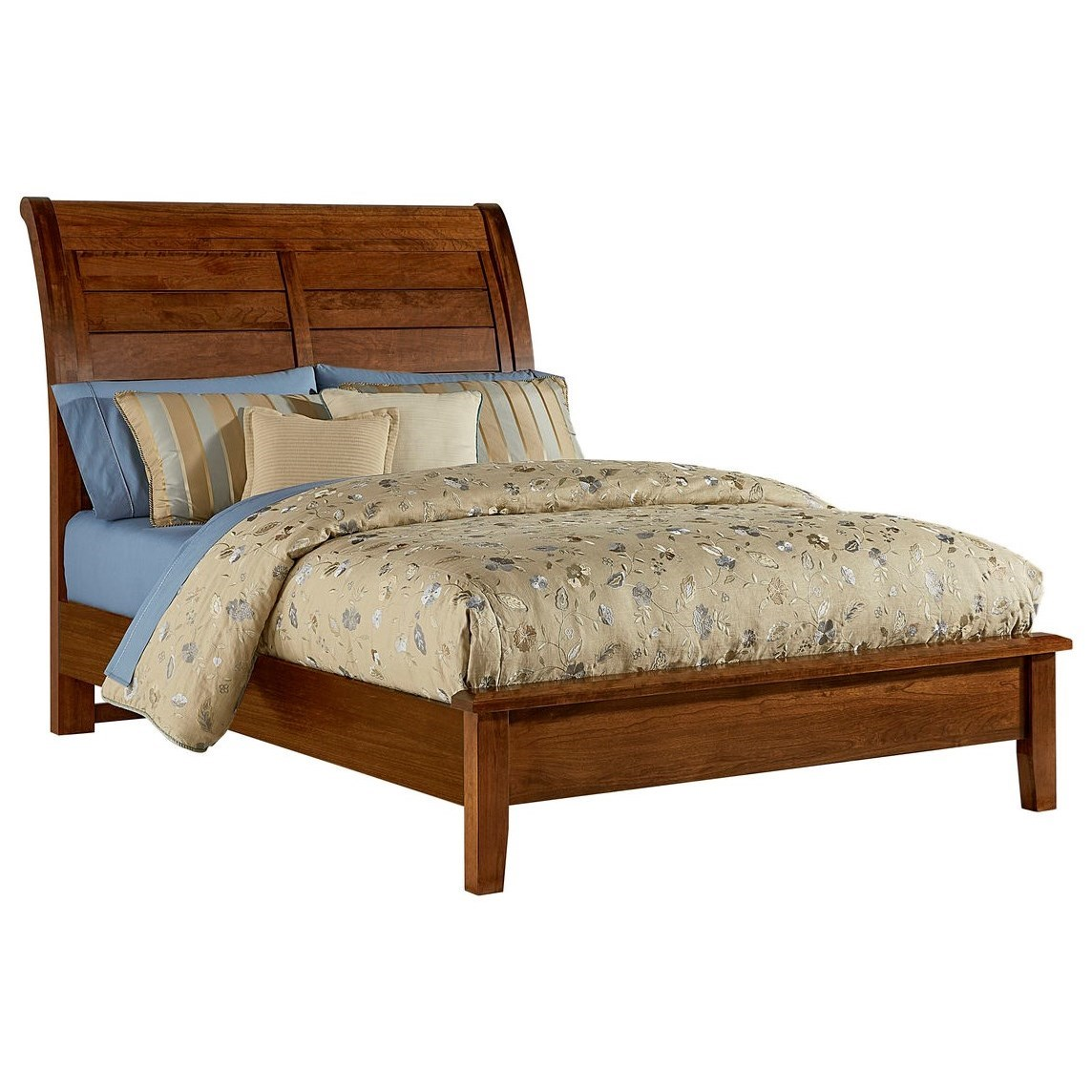 Artisan Choices Queen Sleigh Bed with Low Profile Footboard by Artisan & Post at Lapeer Furniture & Mattress Center