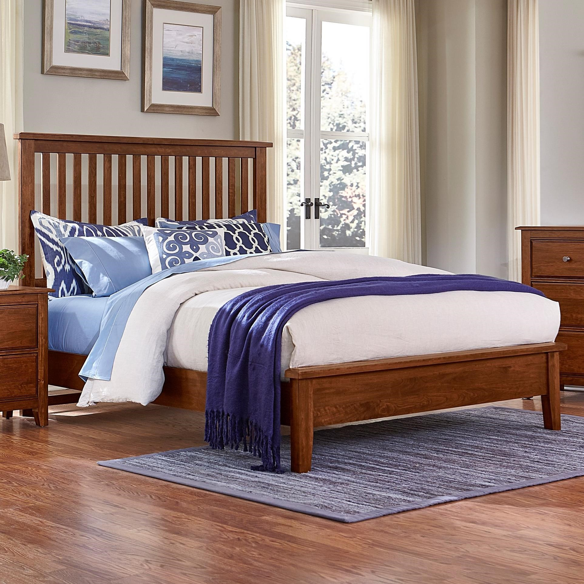 Artisan Choices Queen Slat Bed with Low Profile Footboard by Artisan & Post at Lapeer Furniture & Mattress Center