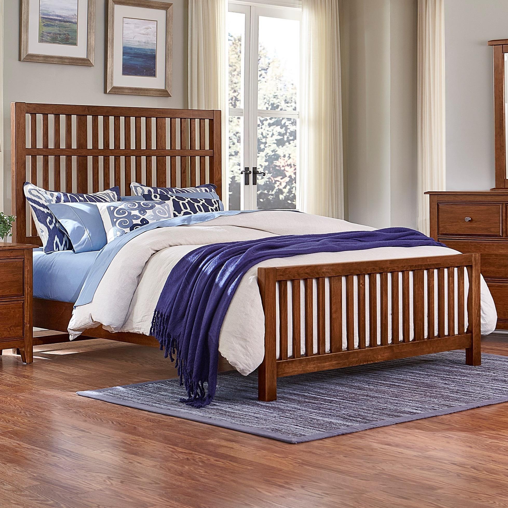 Artisan Choices Queen Craftsman Slat Bed by Artisan & Post at Lapeer Furniture & Mattress Center