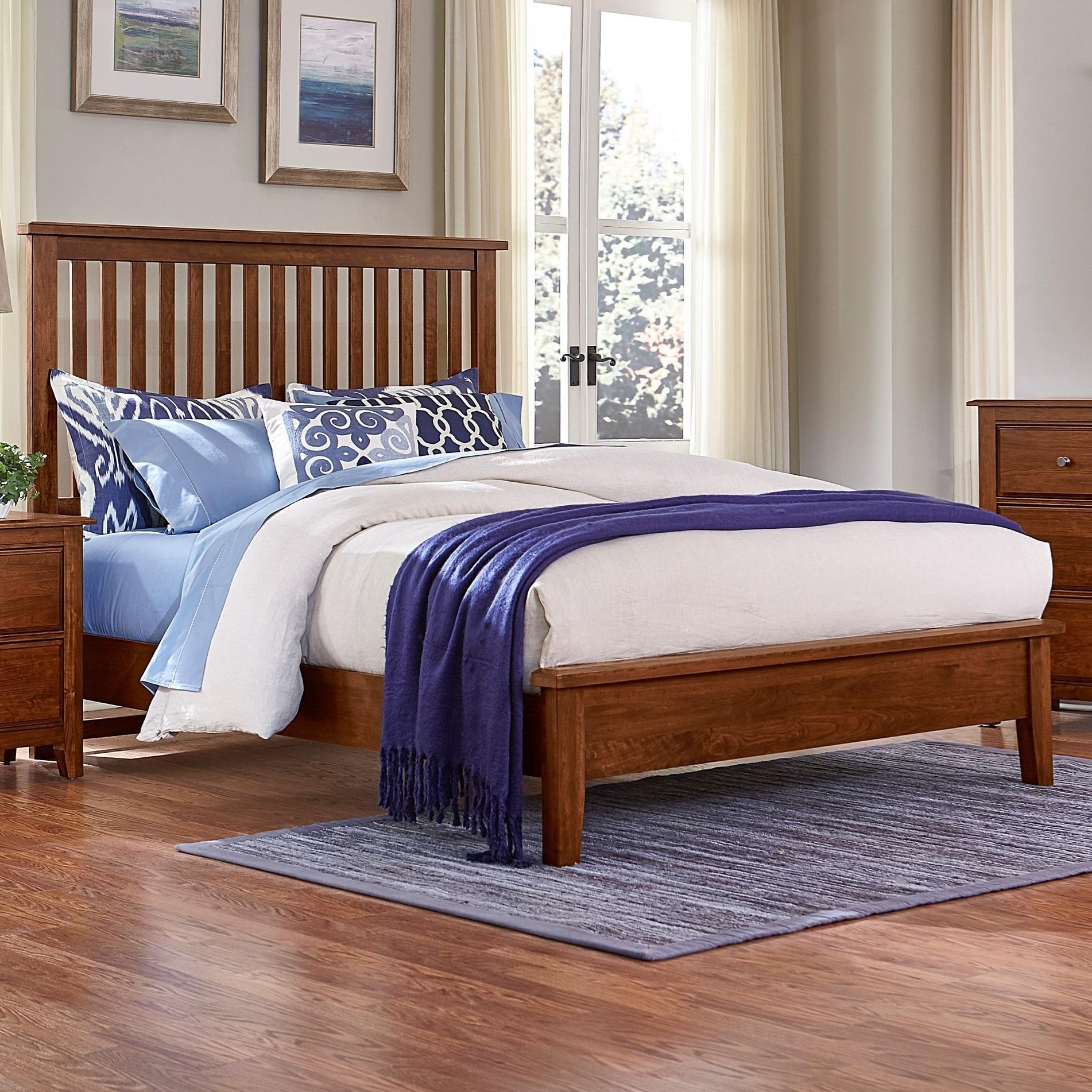 Artisan Choices King Slat Bed with Low Profile Footboard by Artisan & Post at Zak's Home