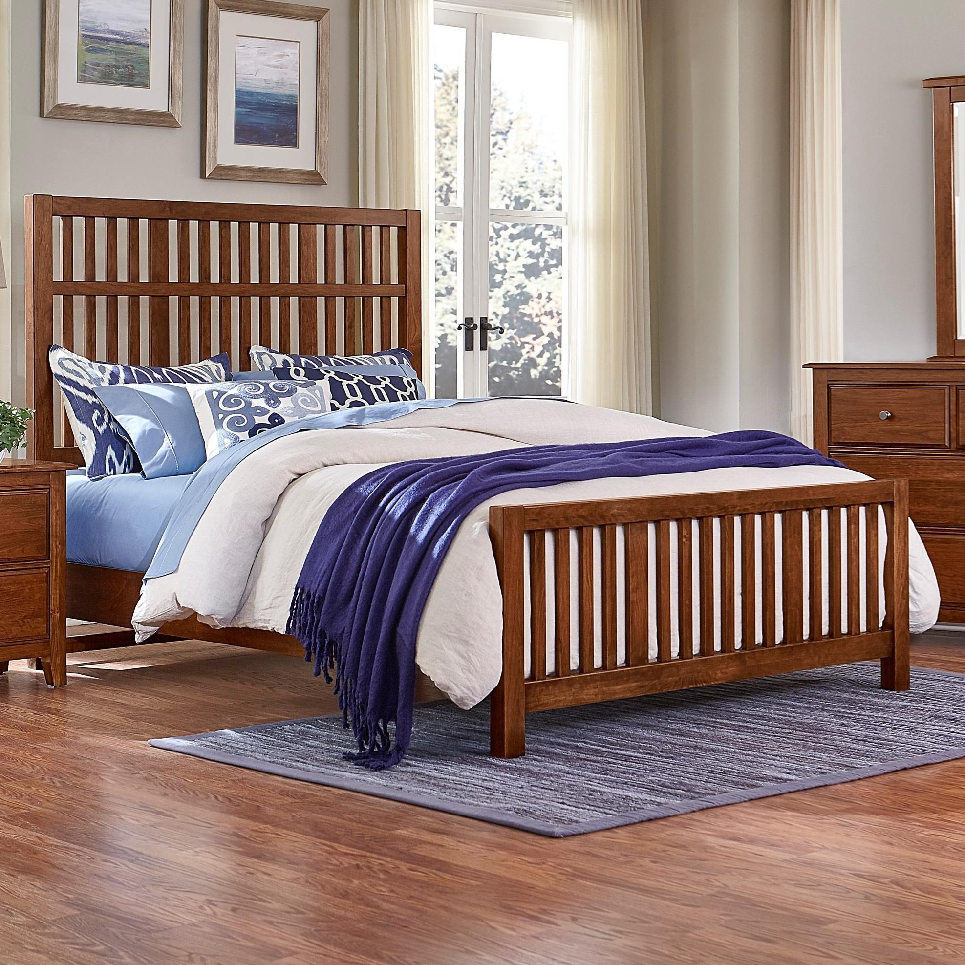 Artisan Choices King Craftsman Slat Bed by Artisan & Post at Rooms and Rest