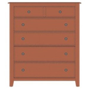 Solid Wood Loft Chest - 5 Drawers