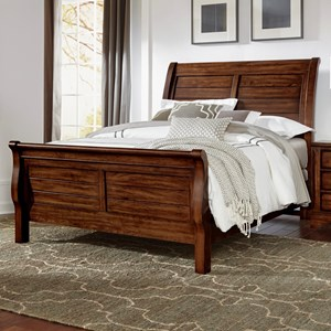 Solid Wood Queen Sleigh Bed