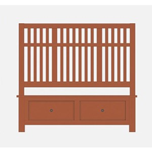 King Craftsman Slat Storage Bed