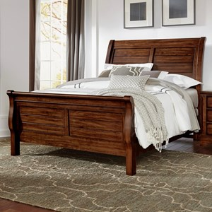Solid Wood King Sleigh Bed