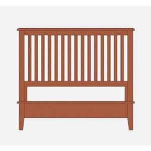 King Slat Bed with Low Profile Footboard