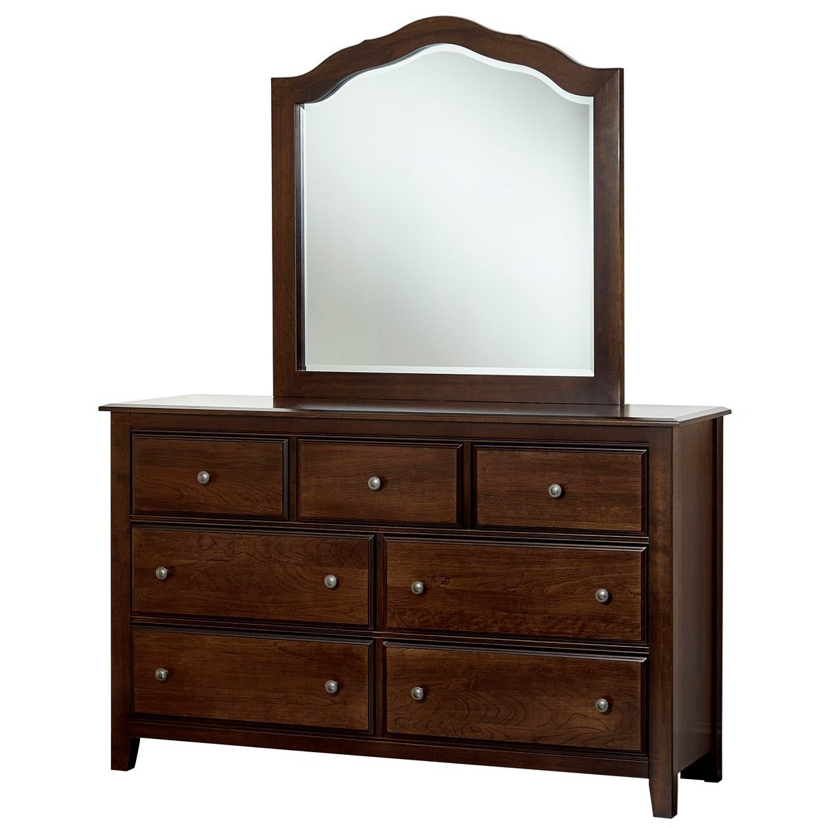 Artisan Choices Loft Triple Dresser & Tall Arched Mirror by Artisan & Post at Mueller Furniture