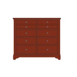 Solid Wood Villa Media Dresser - 8 Drawers