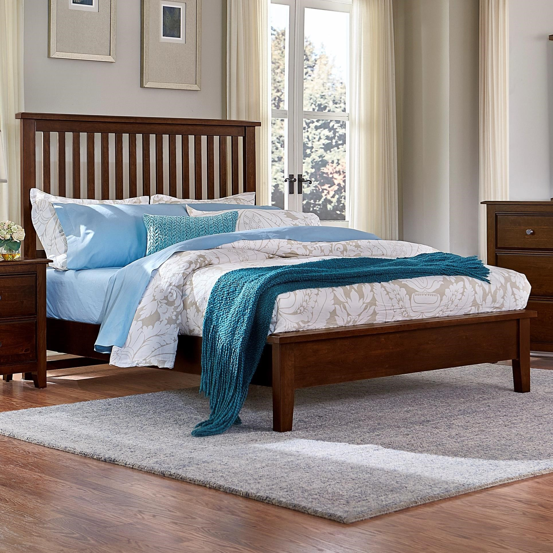 Artisan Choices Queen Slat Bed with Low Profile Footboard by Artisan & Post at Rooms and Rest