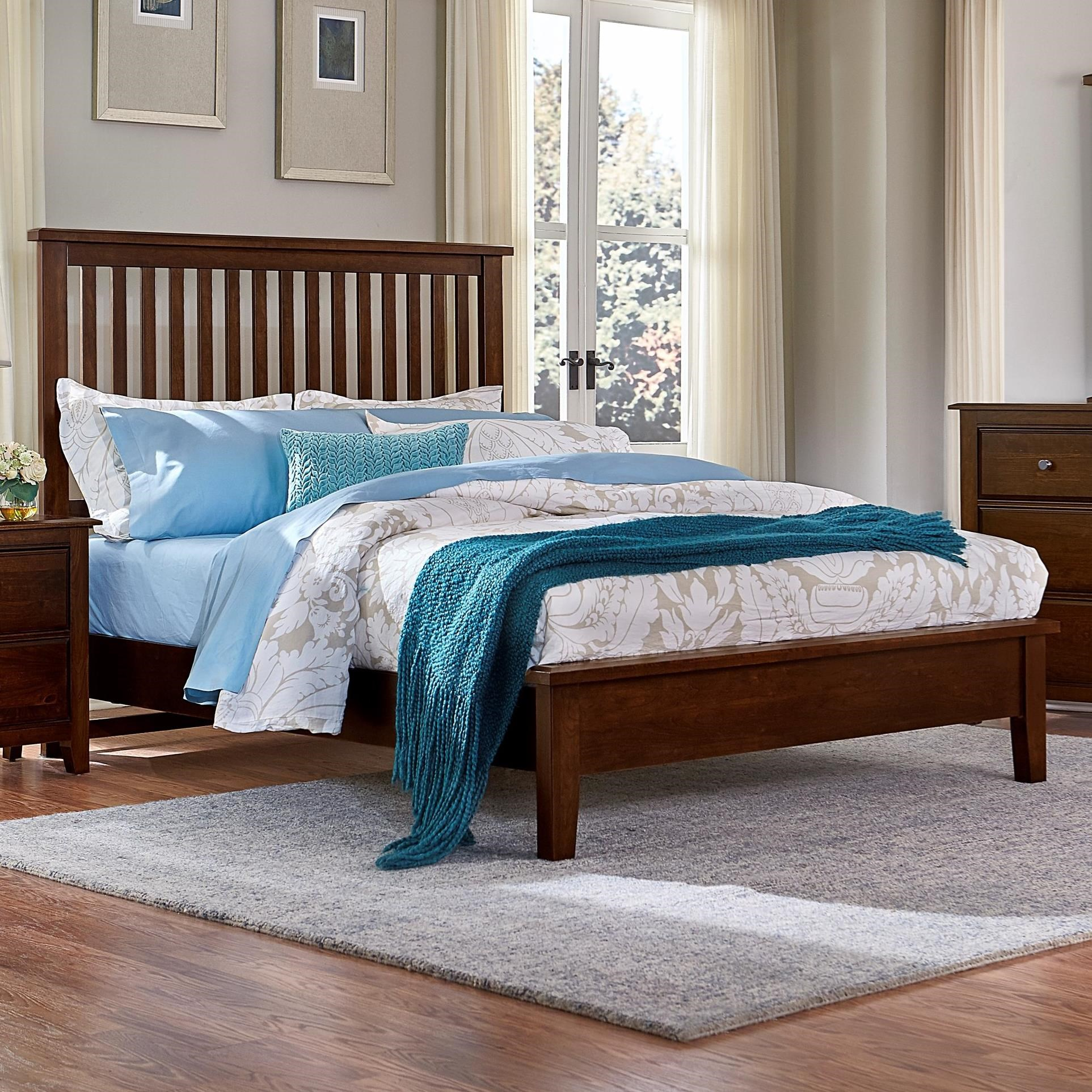 Artisan Choices King Slat Bed with Low Profile Footboard by Artisan & Post by Vaughan Bassett at Becker Furniture