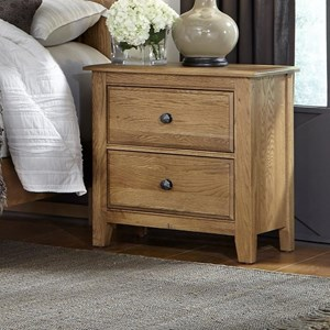 Solid Wood Loft Night Stand - 2 Drawers