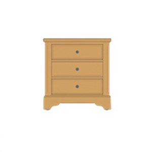 Solid Wood Villa Night Stand - 3 Drawers