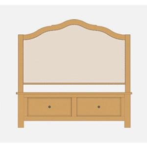 Queen Upholstered Storage Bed