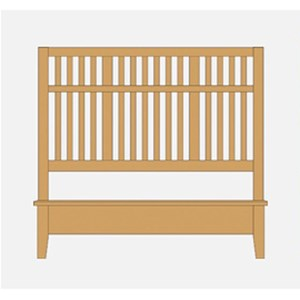 Queen Craftsman Slat Bed w/ Low Profile Footboard