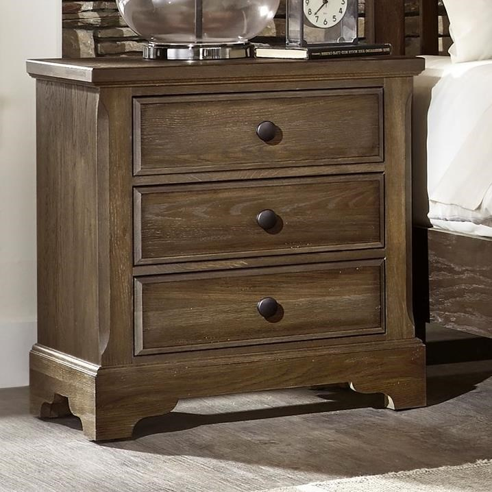 Artisan Choices Villa Night Stand - 3 Drawers by Artisan & Post at Mueller Furniture