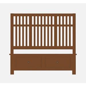 Queen Craftsman Slat Storage Bed