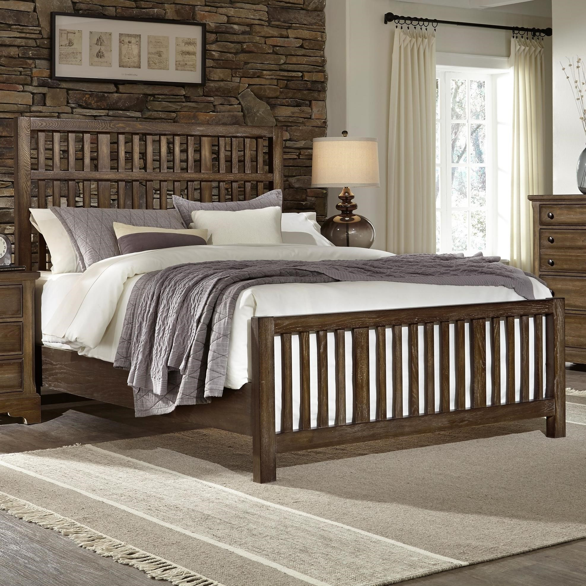 Artisan Choices Queen Craftsman Slat Bed by Artisan & Post at Zak's Home