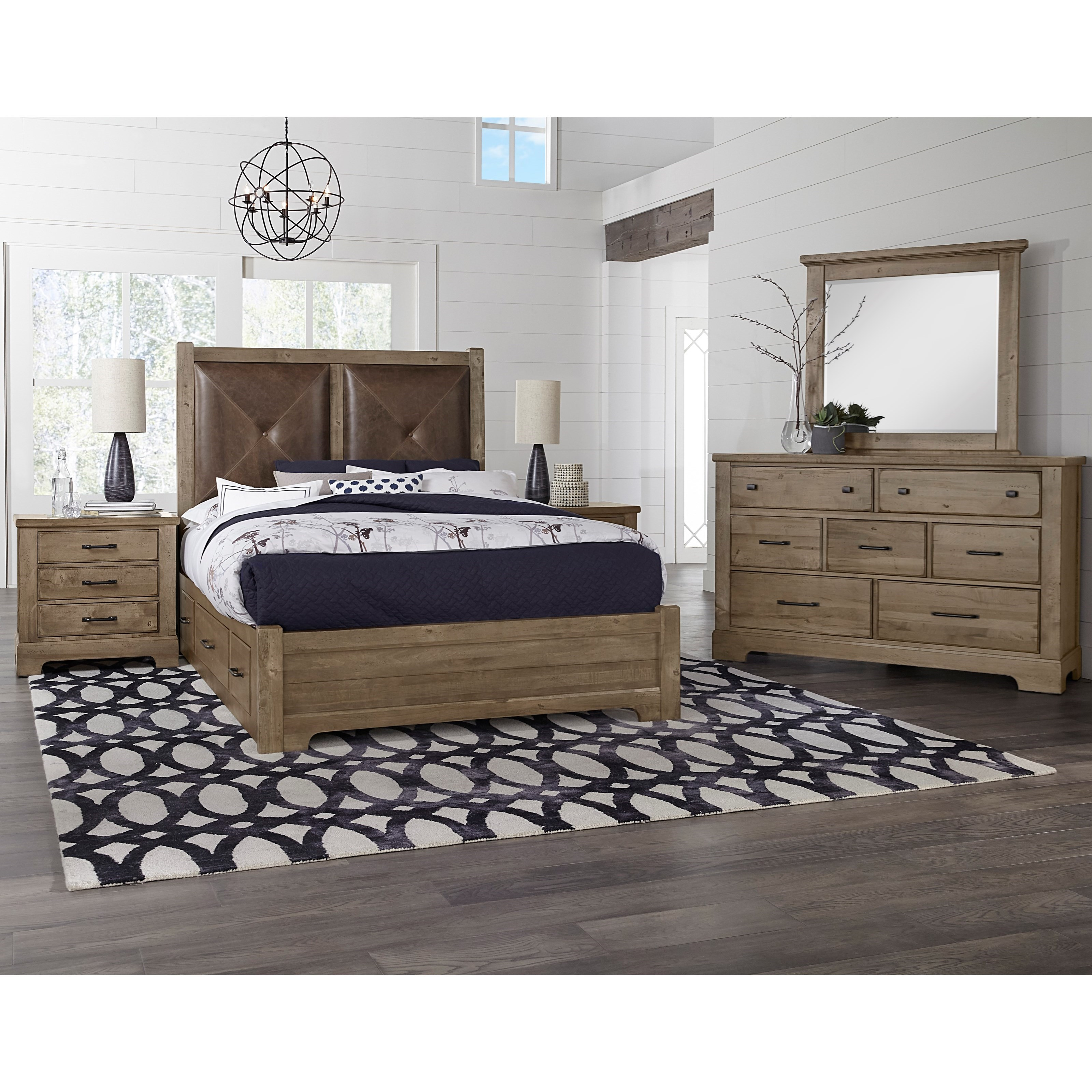 Cool Rustic Queen Bedroom Group by Artisan & Post at Zak's Home