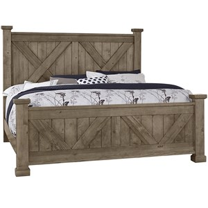 King Barndoor X Headboard and Footboard Bed