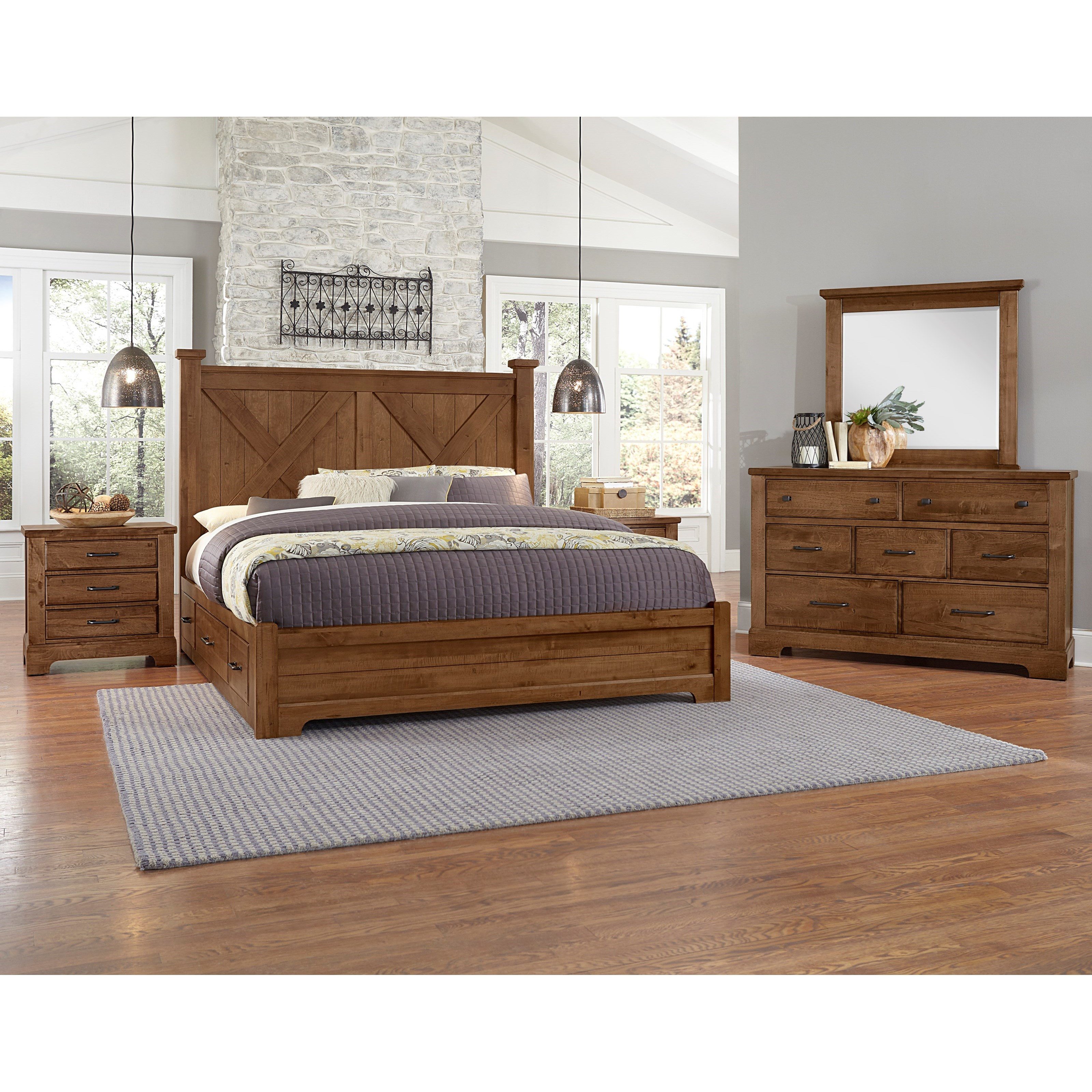 Cool Rustic King Bedroom Group by Artisan & Post at Zak's Home