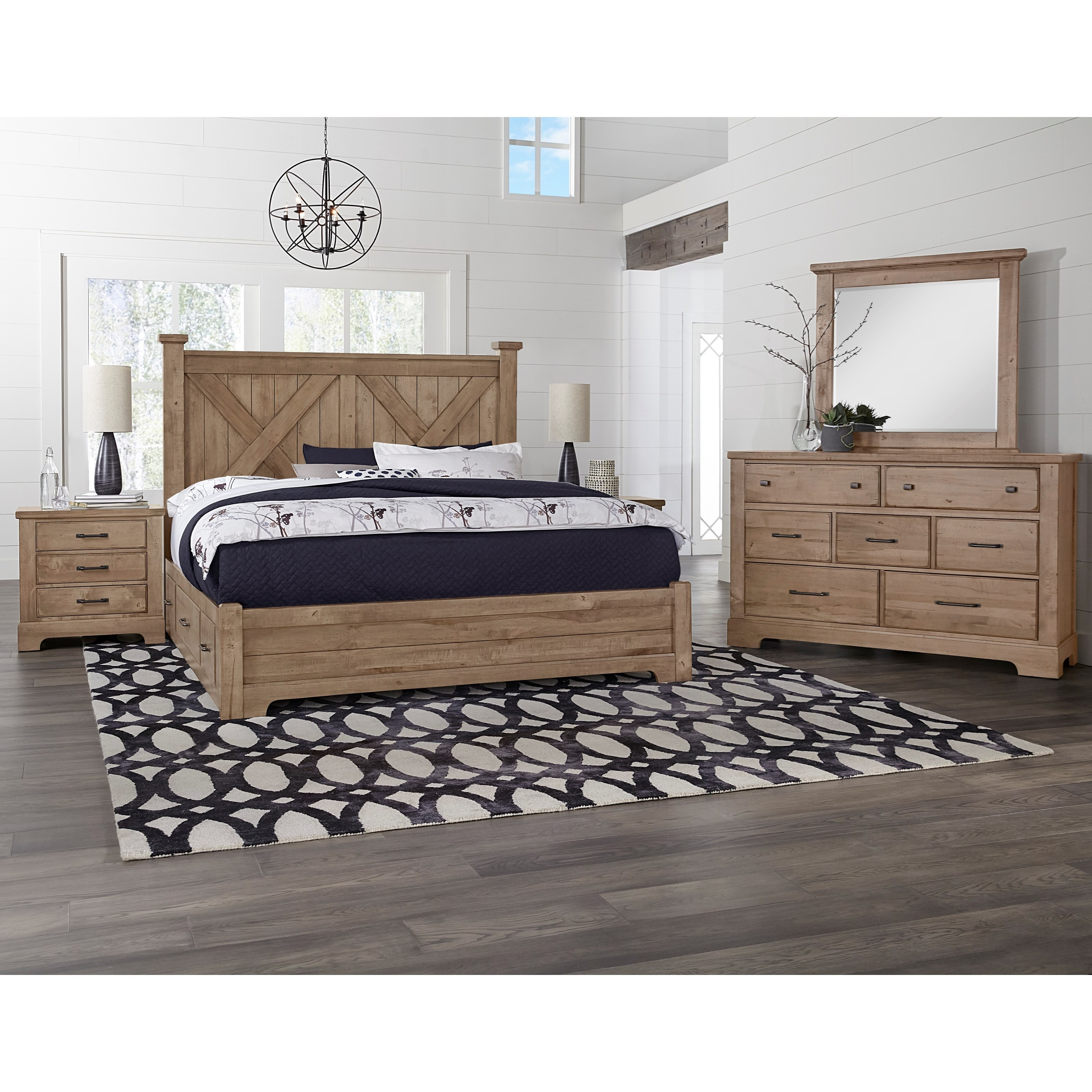 Cool Rustic King Bedroom Group by Artisan & Post at Rooms and Rest