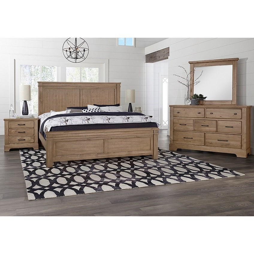 Cool Rustic Queen Bedroom Group  by Artisan & Post at Powell's Furniture and Mattress