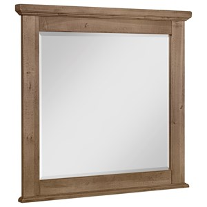 Landscape Mirror with Solid Wood Frame and Beveled Glass