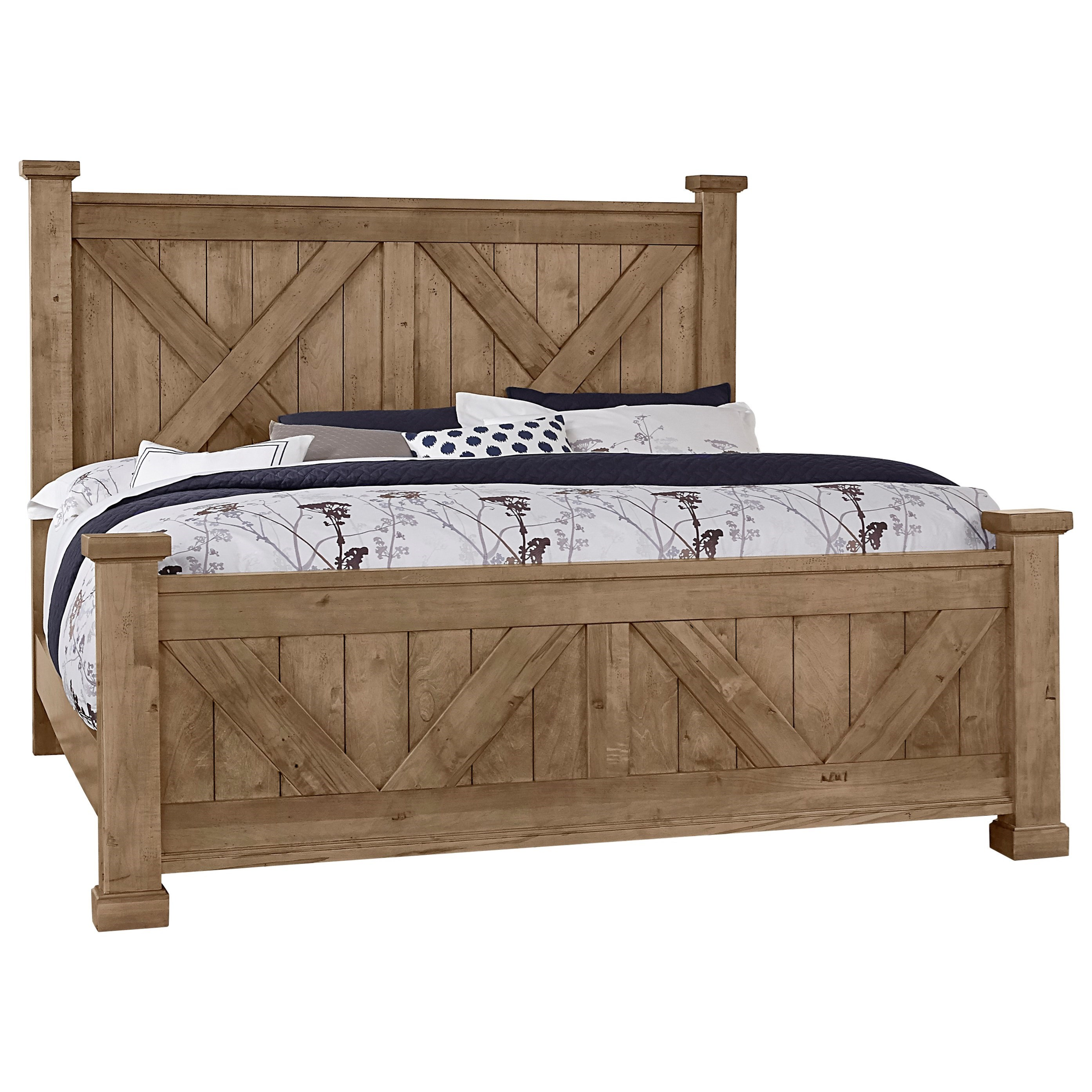 Cool Rustic King Barndoor X Bed by Artisan & Post at Northeast Factory Direct