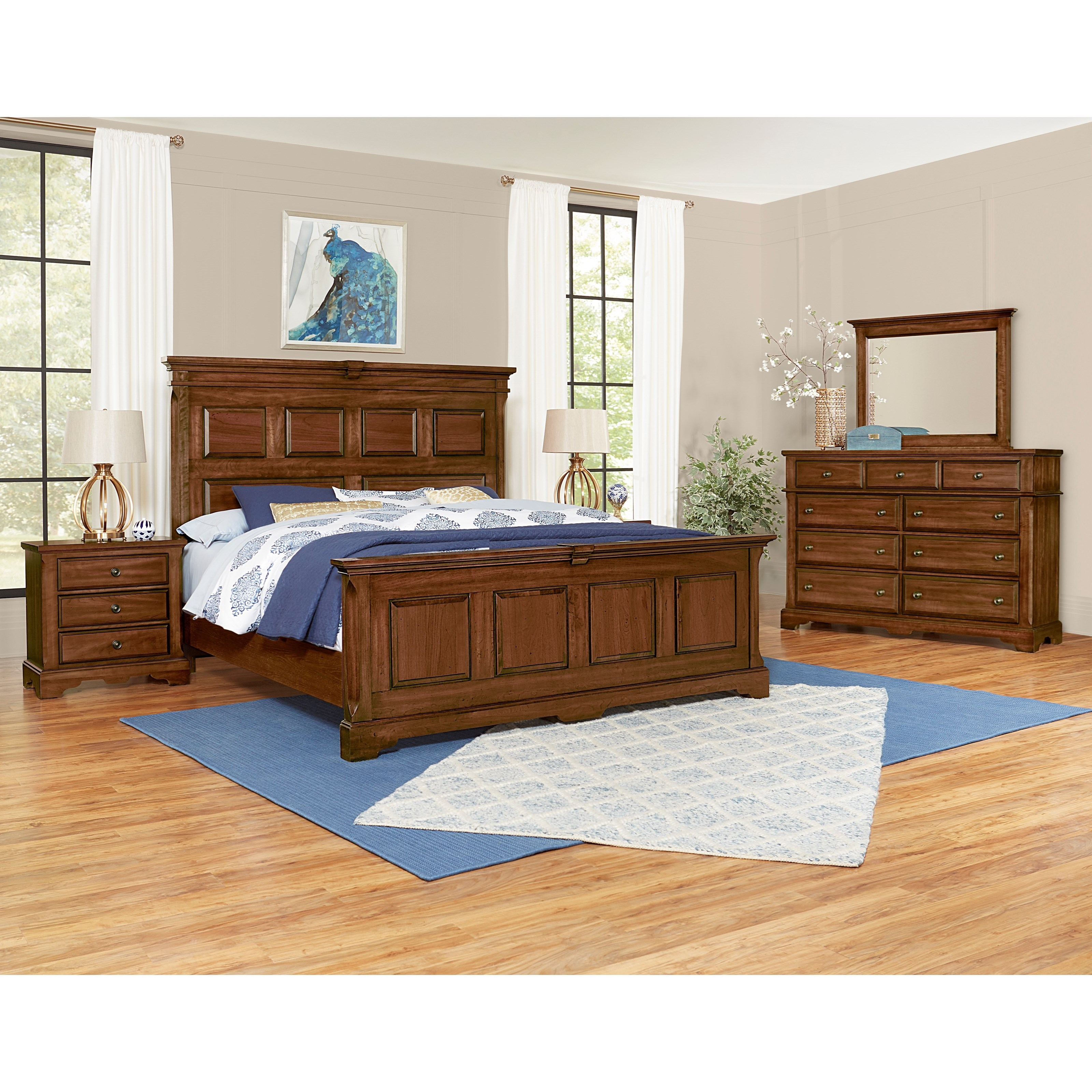 Heritage King Bedroom Group by Artisan & Post at Zak's Home