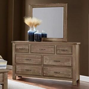 Solid Wood Dresser & Mirror