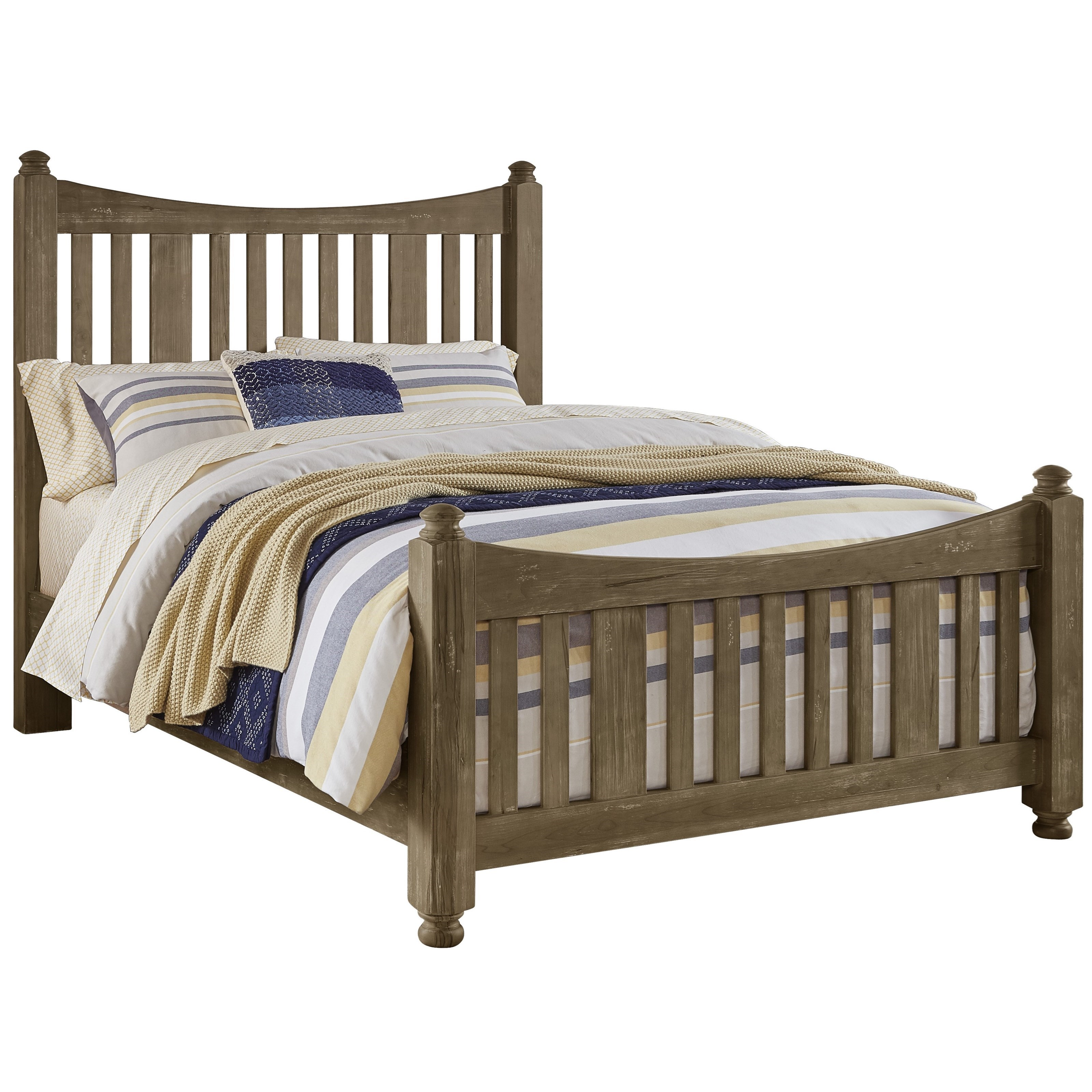 Maple Road Queen Slat Poster Bed by Artisan & Post at Godby Home Furnishings