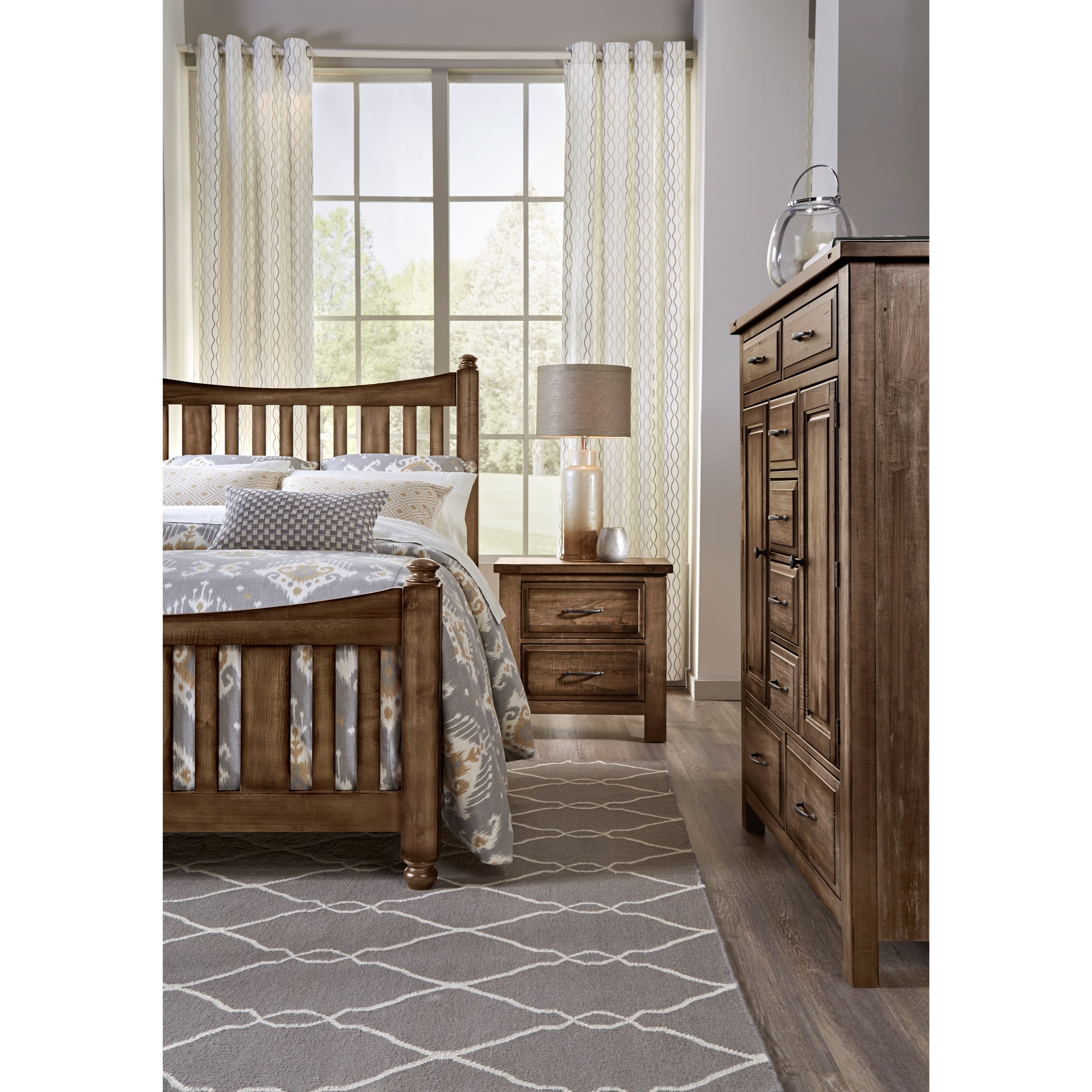 Maple Road Queen Bedroom Group by Artisan & Post at Rooms and Rest
