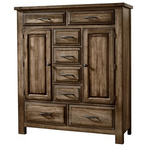 Solid Wood Sweater Chest - 8 Drawers 2 Doors