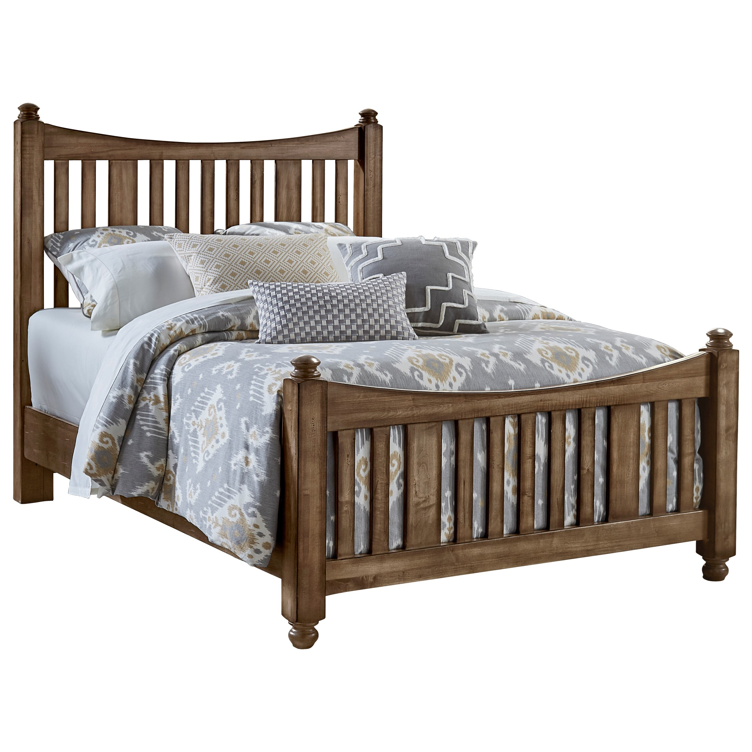 Maple Road Queen Slat Poster Bed by Artisan & Post at Suburban Furniture