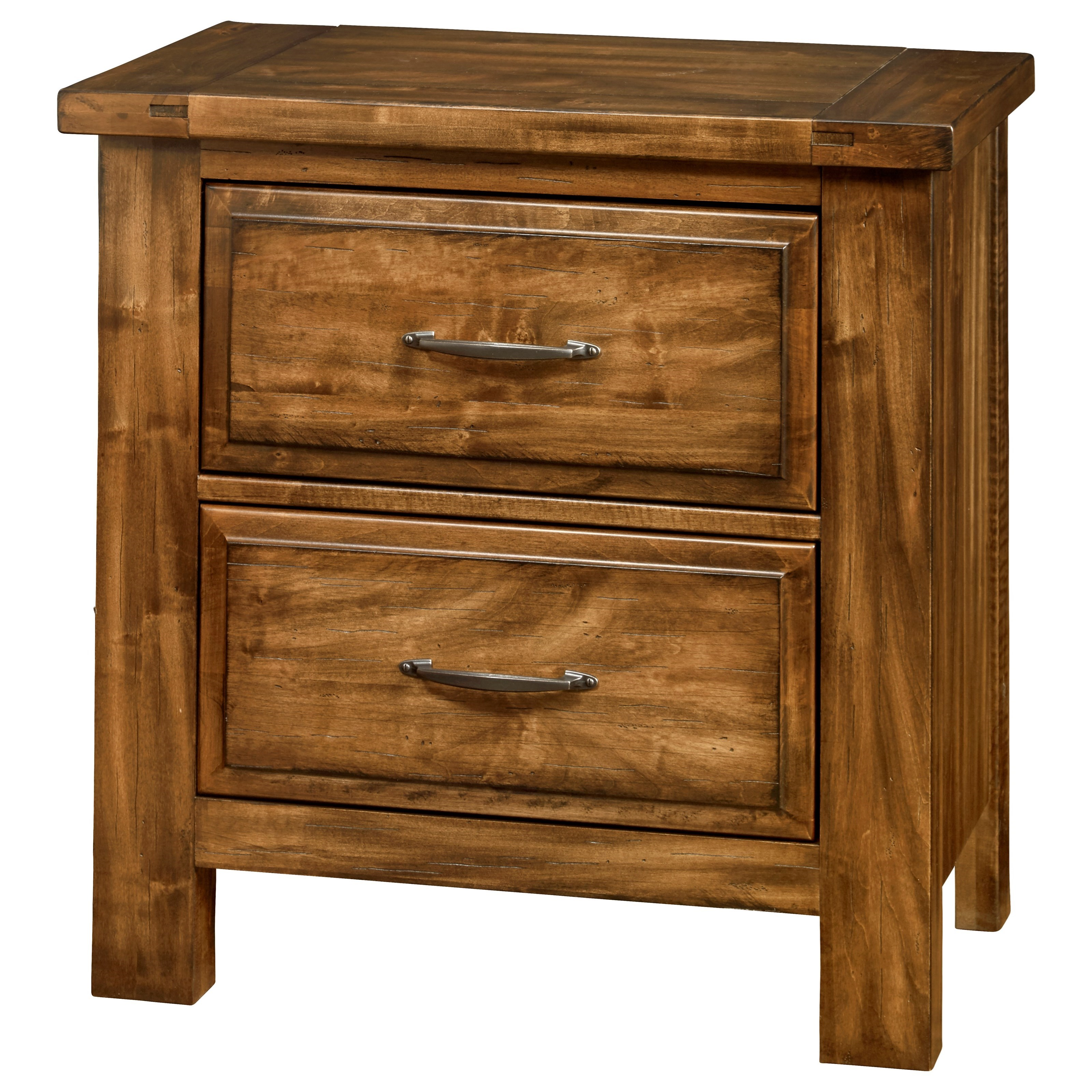Maple Road Night Stand - 2 Drawers by Artisan & Post at Prime Brothers Furniture