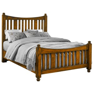 Solid Wood Queen Slat Poster Bed