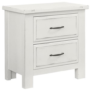 Solid Wood Maple Night Stand - 2 Drawers