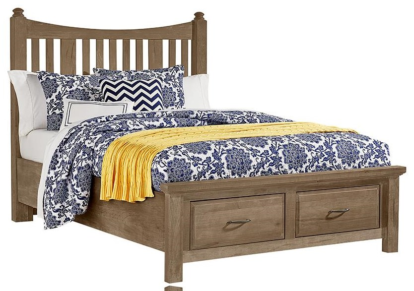 Maple Road King Slat Storage Bed by Artisan & Post at Johnny Janosik