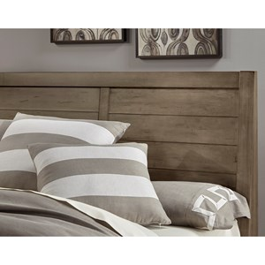Contemporary Queen Headboard with Panel Detail