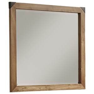 Contemporary Landscape Mirror with Solid Wood Frame