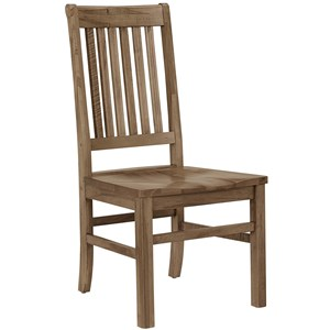 Casual Solid Wood Roll Top Side Chair