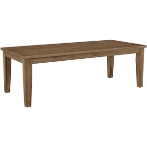 "Casual Solid Wood 90"" Dining Table"