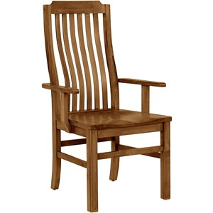 Vertical Slat Arm Chair