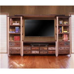 International Furniture Direct 900 Antique Wall Unit